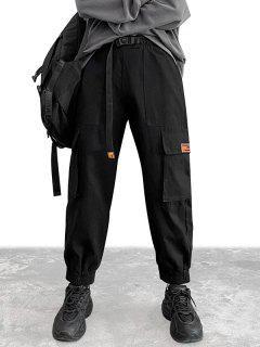 Pantalon Cargo Avec Poche à Rabat - Noir Xs