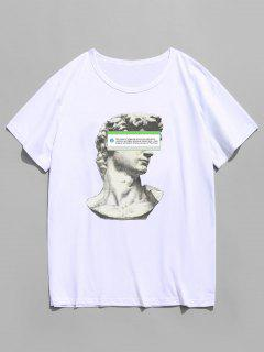 Short Sleeve Sculpture Print T-shirt - White M