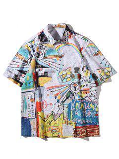 Camicia Con Stampa Graffiti - Multi Colori 2xl