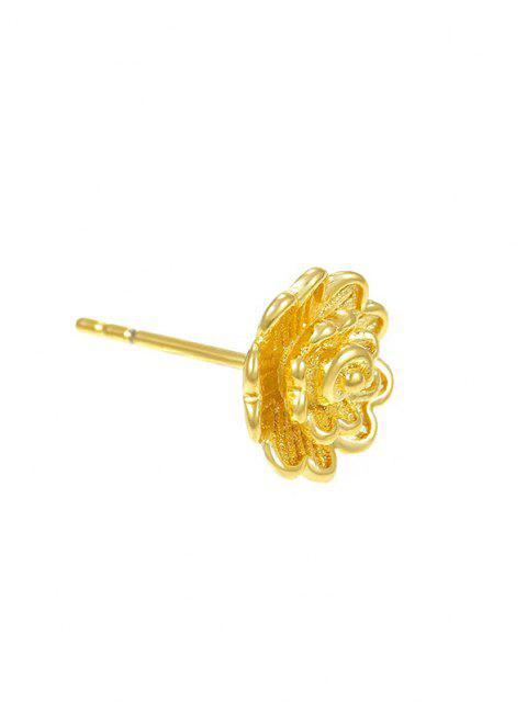 Boucles D'Oreilles Minuscules en Or Plaqué Motif Fleur - d'or  Mobile