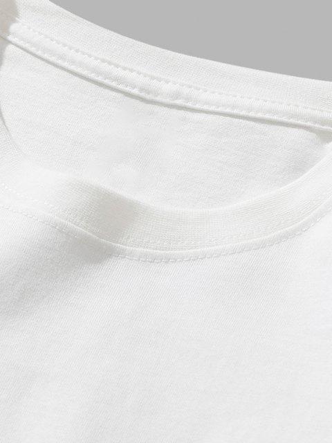 shop Dinosaur Game Slogan Short Sleeve Basic T-shirt - WHITE M Mobile