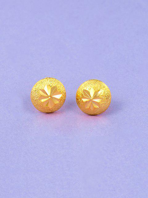 Boucles D'Oreilles Pendantes Plaquées Or avec Boutons - d'or  Mobile