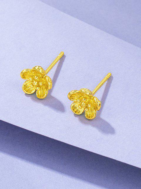 Pendientes Chapado en Oro Floral - dorado  Mobile