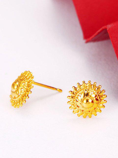 online Ethnic Sun Shape Stud Earrings - GOLDEN  Mobile