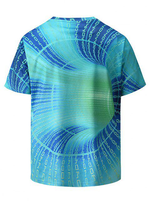 T-Shirt con Stampa Lettere e Pantaloncini - Turchese XL Mobile