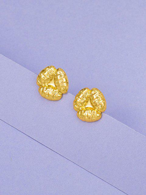 Vergoldete Blumen-Ohrstecker - Golden  Mobile