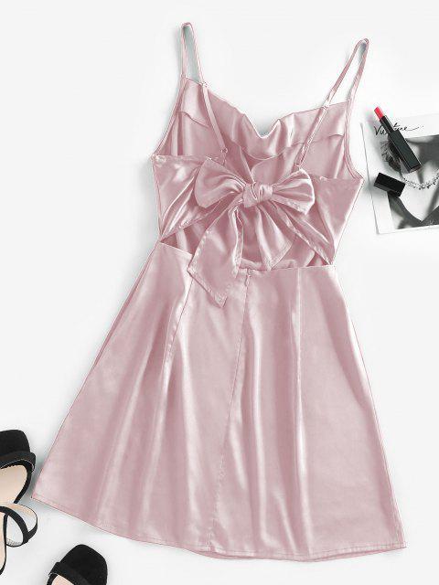 ZAFUL Gebundenes Satin Cami Kleid - Hell-Pink L Mobile
