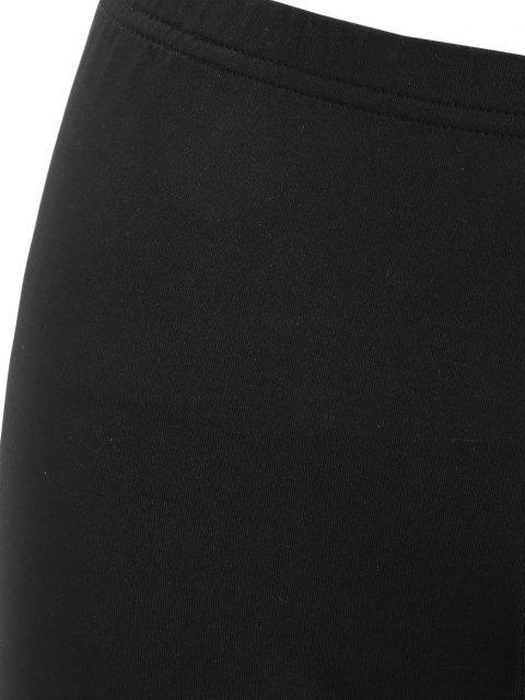womens High Waisted Scalloped Skinny Mini Shorts - BLACK M Mobile