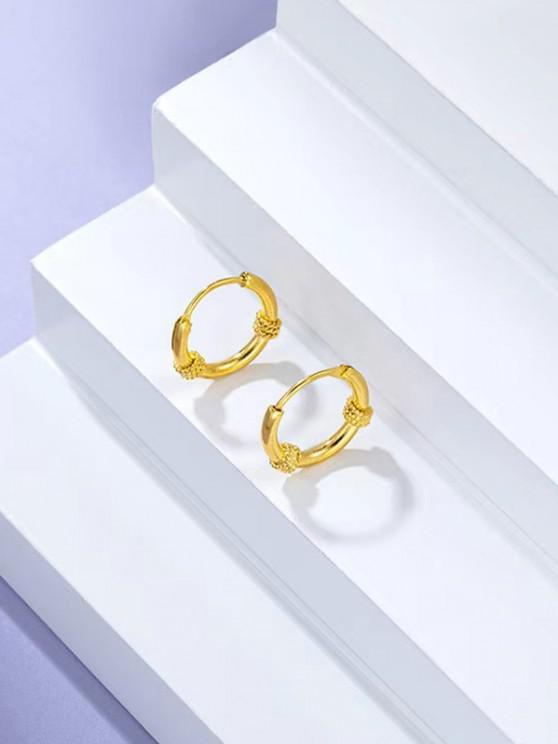 Vergoldete Verdrehte Gold Kleine Ohrring - Golden