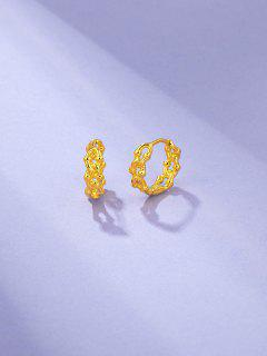 Link Chain Shape Small Hoop Earrings - Golden