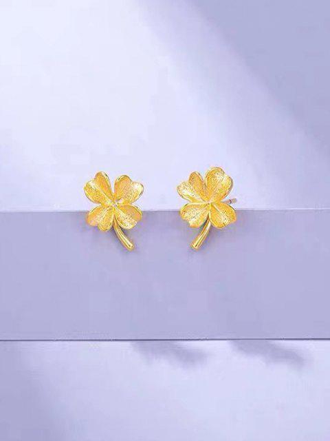 new Gold Plated Clover Stud Earrings - GOLDEN  Mobile