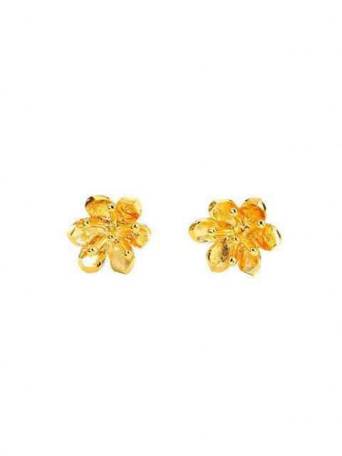 Pendientes de Botón Floral Tallado - dorado  Mobile