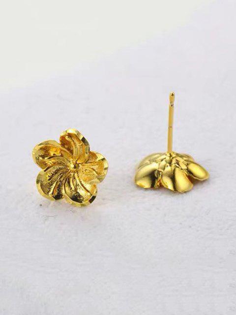 Orecchini Placcati Oro a Forma di Fiore - d'oro  Mobile