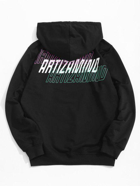 Artizamind Reality Illusion Front Pocket Hoodie - Schwarz L Mobile