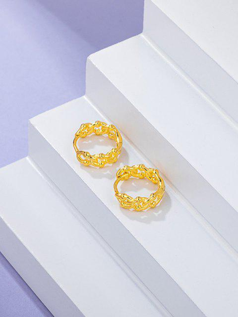 women Link Chain Shape Small Hoop Earrings - GOLDEN  Mobile