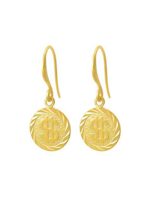 shop Golden Coin Pendant Drop Earrings - GOLDEN  Mobile