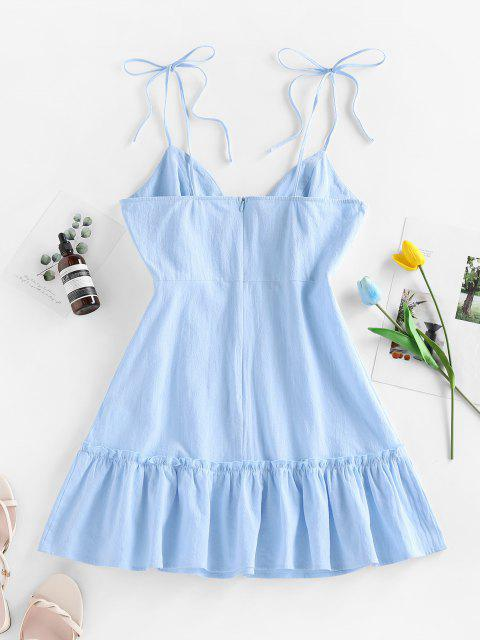 womens ZAFUL Flounce Mini Slip Dress - LIGHT BLUE S Mobile