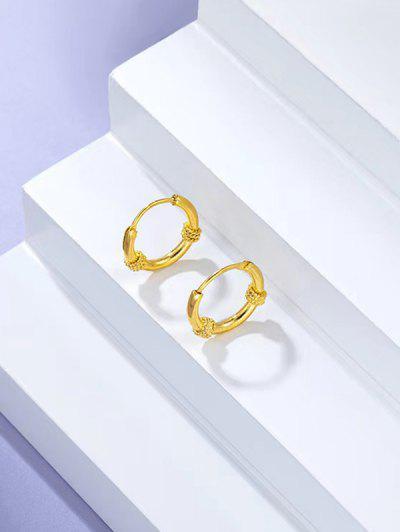 Twist Gold-plated Small Hoop Earrings - Golden