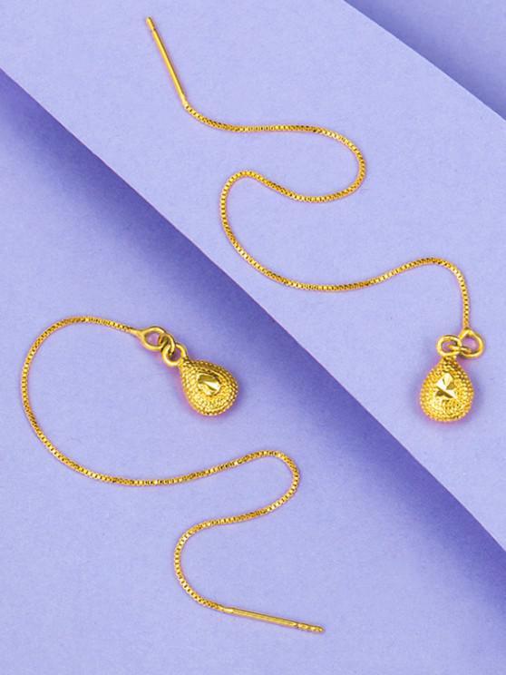 Pendientes de Gota de Agua Chapado en Oro - dorado