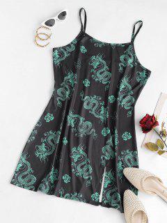 ZAFUL Orientalische Übergröße Schlitz Cami Kleid - Multi Xl