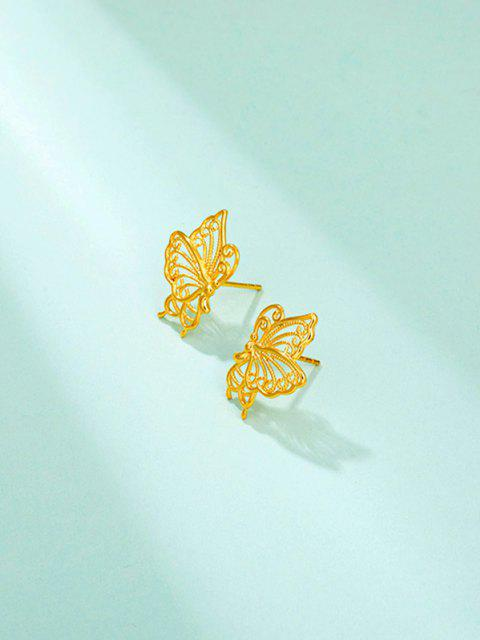 shops Golden Butterfly Hollow Out Stud Earrings - GOLDEN  Mobile
