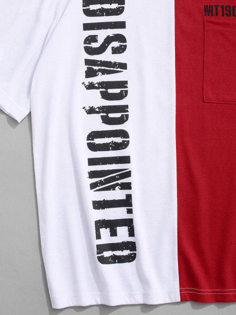 hot Two Tone Disappointed Short Sleeve T-shirt - RED M Mobile