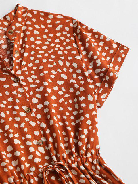 Vestidos de Baile em Estilo Antigo em Cor Pura com Colar) / - Vermelho M Mobile