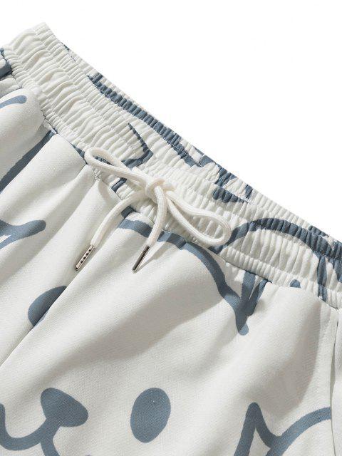 chic Animal Figure Multi-pocket Shorts - WARM WHITE 2XL Mobile