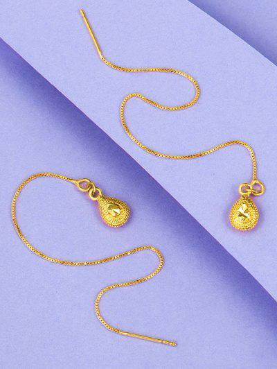 Orecchini Pendenti Placcati Oro A Forma Di Goccia D'acqua - D'oro