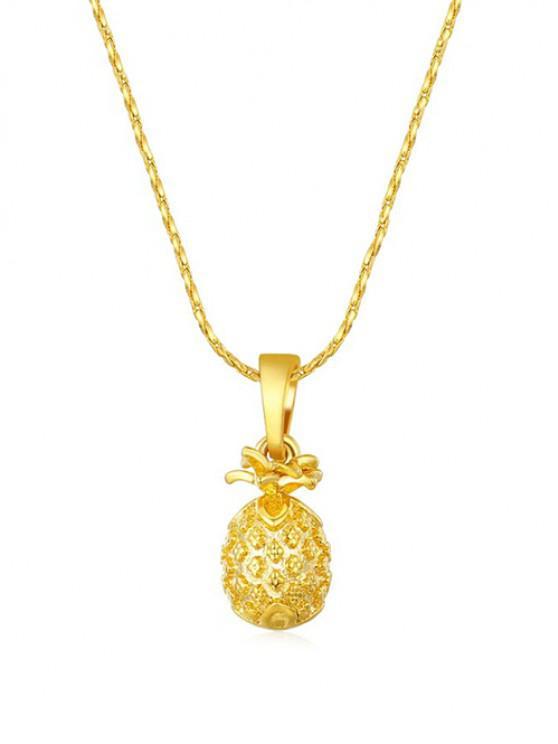 Collana Pendente a Forma di Ananas - d'oro