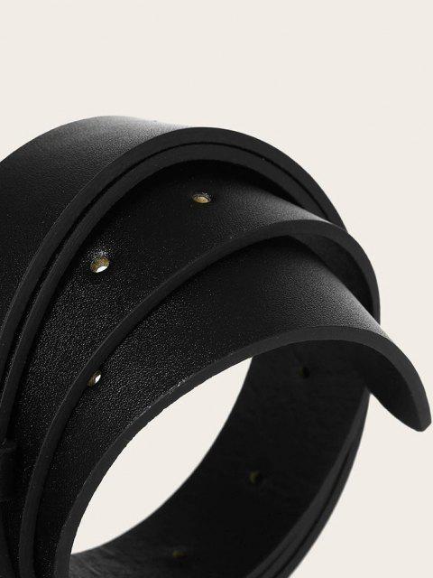 Einfarbige Metallische Spiral Doppelter Gürtel - Schwarz  Mobile