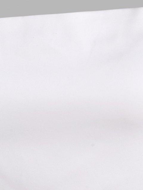 Satin Innerseide Spitze mit Kreuzmuster und Rüschen - Weiß L Mobile