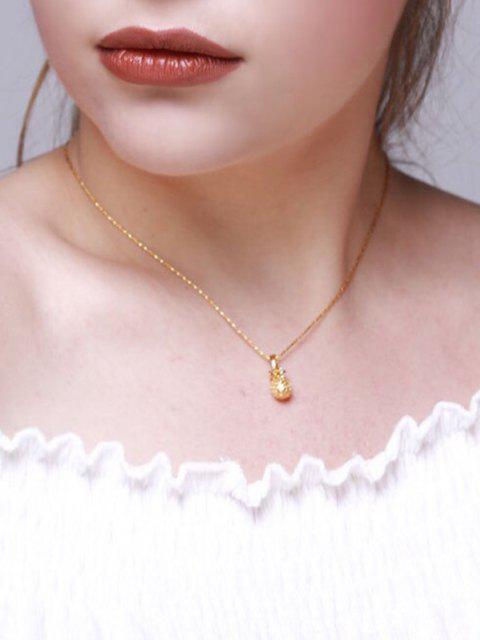 outfit Carved Pineapple Pendant Necklace - GOLDEN  Mobile