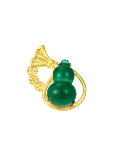 outfits Gourd Pendant Gold Plated Necklace - GOLDEN  Mobile
