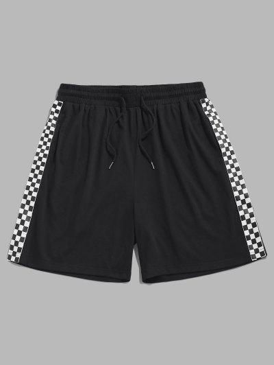 ZAFUL Checkerboard Print Shorts - Black S