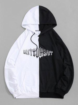 zaful Two Tone Letter Hoodie