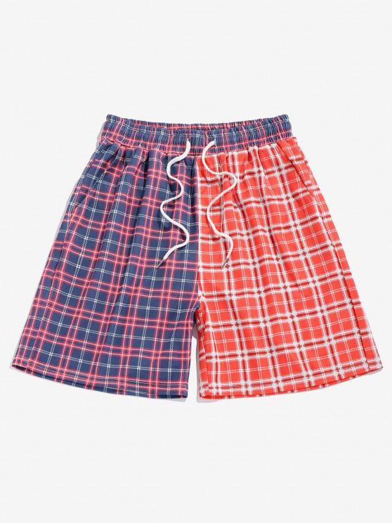 Pantaloncini a Quadretti a Blocchi di Colore di ZAFUL - Multi Colori M