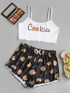 Valentine Heart Cookie Graphic Two Piece Set - White S