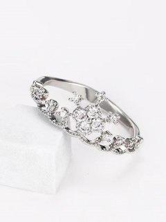 Anillo Forma De Corona Imitación Diamantes - Plata Us 8