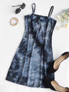 Fitted Tie Dye Cami Mini Dress - Black L
