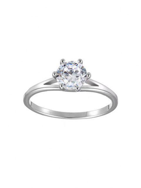 Set di Anelli Vintagi con Diamanti Finti - Argento Stati Uniti 8 Mobile