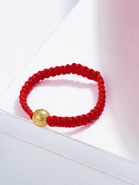 Gehäkelter Strukturierter Schnürender Ring - Rot US 6 Mobile