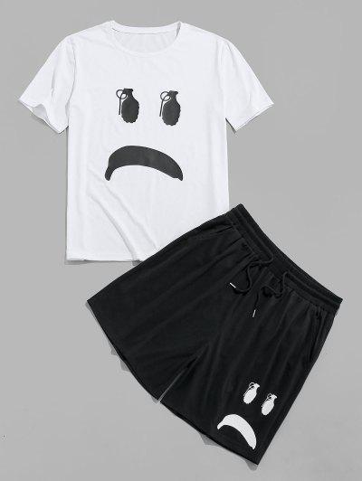T-Shirt E Pantaloncini Con Stampa A Cartone Di ZAFUL - Nero S
