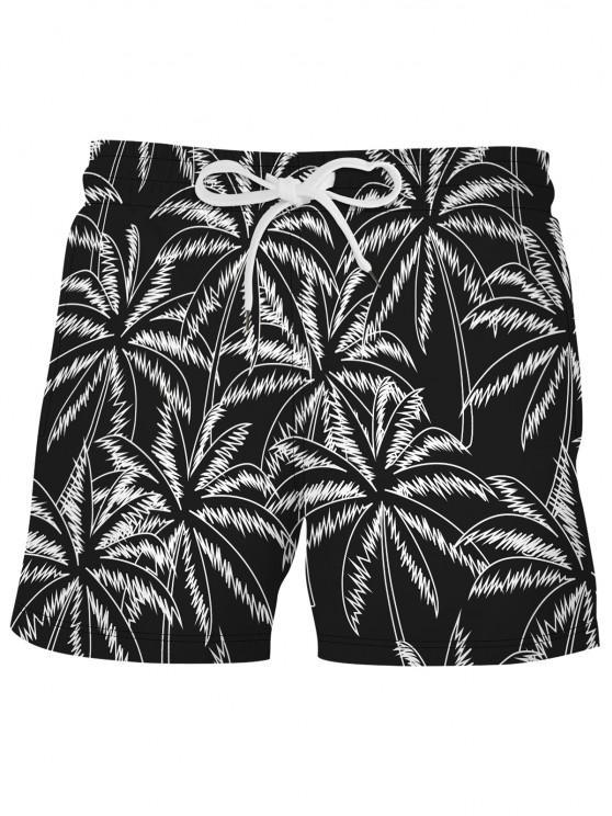 Short de Plage de Vacances Palmier - Noir XL