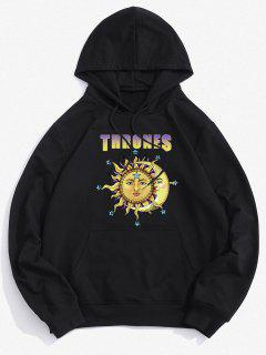 Thrones Celestial Sun And Moon Graphic Hoodie - Black 2xl
