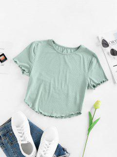 ZAFUL Grüner Salat Trim Crop T-Shirt - Hellgrün M