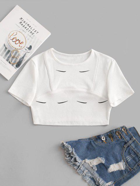 Camiseta de grávidas com estampa de veados dourados Cortado - Branco S Mobile