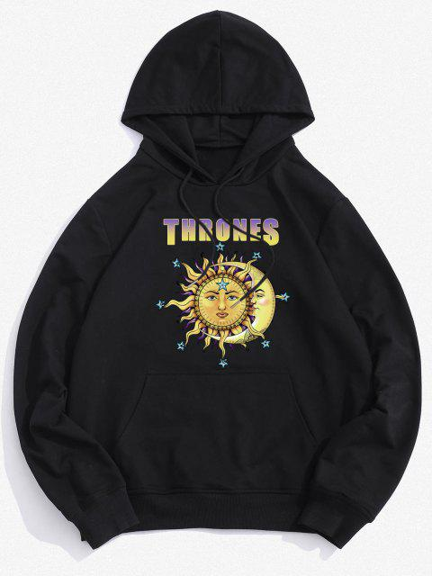 Thrones Celestial Sun and Moon Graphic Hoodie - Preto M Mobile