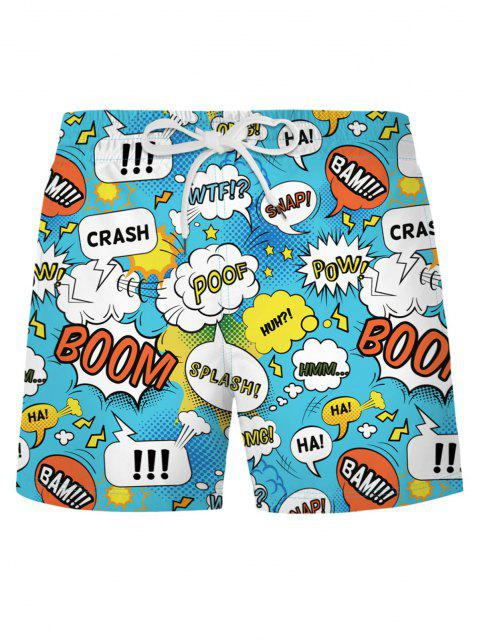 outfits Graphic Pop Art Casual Shorts - DAY SKY BLUE 2XL Mobile