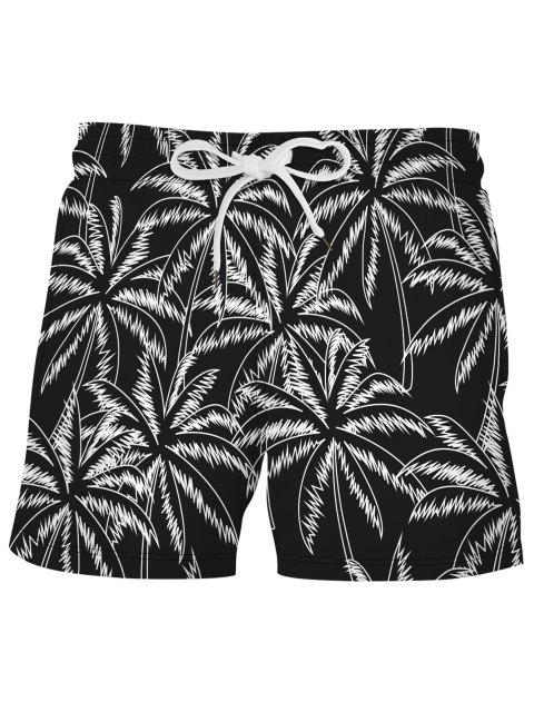 outfits Palm Tree Beach Vacation Shorts - BLACK M Mobile